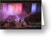 Dusk Greeting Cards - Colorful American Falls Greeting Card by Adam Romanowicz