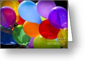 Flying Greeting Cards - Colorful balloons Greeting Card by Elena Elisseeva