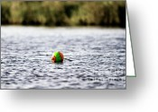 Crabbing Greeting Cards - Colorful Bouy Greeting Card by Scott Pellegrin