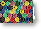 Maryland Greeting Cards - Colorful Buttons Greeting Card by Jeff Suhanick