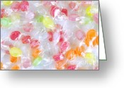 Shape Photo Greeting Cards - Colorful Candies Greeting Card by Carlos Caetano