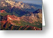 The Lightning Man Greeting Cards - Colorful Colorado Rocky Mountains Planet Art Greeting Card by James Bo Insogna