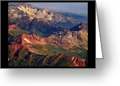 Landscape Posters Greeting Cards - Colorful Colorado Rocky Mountains Planet Art Poster  Greeting Card by James Bo Insogna