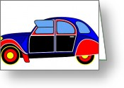 Asbjorn Lonvig Greeting Cards - Colorful Darling - Virtual Car Greeting Card by Asbjorn Lonvig