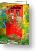 Entrance Door Greeting Cards - Colorful Entrance ... Greeting Card by Juergen Weiss
