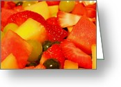 Melon Greeting Cards - Colorful Fare Greeting Card by Judy Hall-Folde