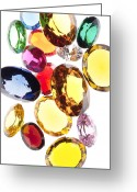 Facet Greeting Cards - Colorful Gems Greeting Card by Setsiri Silapasuwanchai