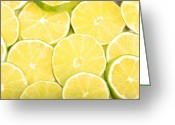 Citrus Fruits Greeting Cards - Colorful Limes Greeting Card by James Bo Insogna