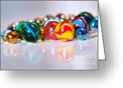 Toy Greeting Cards - Colorful Marbles Greeting Card by Carlos Caetano