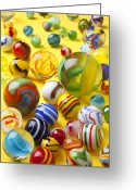 Game Greeting Cards - Colorful marbles Greeting Card by Garry Gay