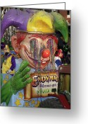 Highsmith Greeting Cards - Colorful Mardi Gras Floats - New Orleans Louisiana Greeting Card by Carol M Highsmith