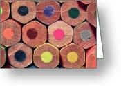 Colored Pencil Greeting Cards - Colorful Painting Pencils Greeting Card by Erdem Civelek visual