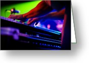 Live Music Greeting Cards - Colorful Piano Player Greeting Card by The  Vault