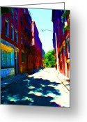 Colorful Buildings Greeting Cards - Colorful Place to Live Greeting Card by Julie Lueders 