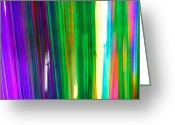 Pacific Coast States Greeting Cards - Colorful Plastic Tubes In San Francisco Greeting Card by Raymond Gehman