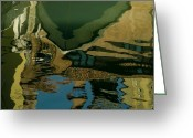 European Union Greeting Cards - Colorful Reflections In A Canal Greeting Card by Todd Gipstein