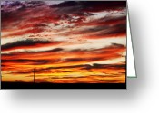 Purples Greeting Cards - Colorful Rural Country Sunrise Greeting Card by James Bo Insogna