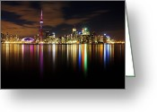 Matthew Trimble Greeting Cards - Colorful Toronto Greeting Card by Matt  Trimble
