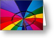 Shade Greeting Cards - Colorful umbrella Greeting Card by Garry Gay