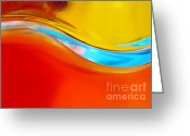 Twirl Greeting Cards - Colorful Wave Greeting Card by Carlos Caetano