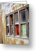 Industrial Greeting Cards - Colorful windows Greeting Card by Fran Riley