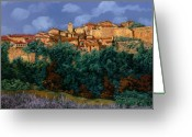 `les Greeting Cards - colori di Provenza Greeting Card by Guido Borelli