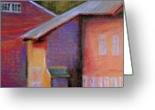 Icon  Pastels Greeting Cards - Colors and Shadows Greeting Card by Dona Mara