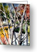Fall Drawings Greeting Cards - Colors of a Prayer Greeting Card by Mindy Newman