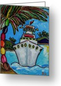 Cruise Ship Greeting Cards - Colors of Cruising Greeting Card by Patti Schermerhorn