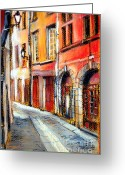 Urban Pastels Greeting Cards - Colors Of Lyon 3 Greeting Card by EMONA Art