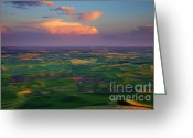 Wheatfields Photo Greeting Cards - Colors of the Palouse Greeting Card by Mike  Dawson