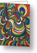 Creative Drawings Greeting Cards - Colorway 2 Greeting Card by Ramneek Narang