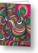 Creative Drawings Greeting Cards - Colorway1 Greeting Card by Ramneek Narang