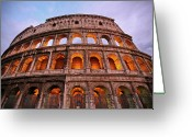Ancient Rome Greeting Cards - Colosseum - Coliseu Greeting Card by Ruy Barbosa Pinto