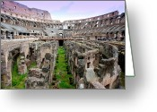 Ancient Rome Greeting Cards - Colosseum Greeting Card by Luiz Felipe Castro