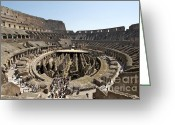 Antiquity Greeting Cards - Colosseum. Rome Greeting Card by Bernard Jaubert