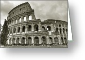 Roman Photo Greeting Cards - Colosseum  Rome Greeting Card by Joana Kruse