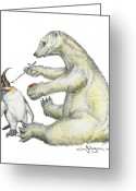 Expressive Drawings Greeting Cards - Colour Bear Greeting Card by Mark Johnson