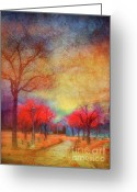 Canada Digital Art Greeting Cards - Colour Burst Greeting Card by Tara Turner