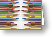 Pencil Greeting Cards - Coloured Pencil Greeting Card by Joana Kruse