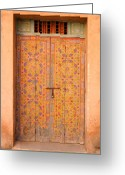 Entrance Door Greeting Cards - Colourful Entrance Door Sale Rabat Morocco Greeting Card by Ralph Ledergerber