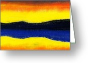 Expressive Pastels Greeting Cards - Colours of Sky Greeting Card by Hakon Soreide