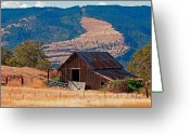 Old Barn Greeting Cards - Columbia River Barn Greeting Card by Peter Tellone