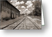 Abandoned Train Greeting Cards - Columbia TN Train Station Greeting Card by Steven  Michael
