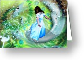 Prophetic Art Greeting Cards - Come as a Child Greeting Card by Dolores DeVelde