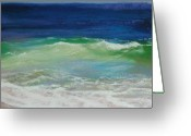 Waves Pastels Greeting Cards - Come on in Greeting Card by Jeanne Rosier Smith
