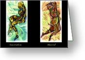 Goddess Posters Greeting Cards - Come sit me me  Above it all Greeting Card by Shelley Bain