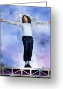 King Of Pop Greeting Cards - Come Together Over Me - MJ Greeting Card by Reggie Duffie