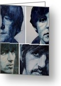 Image John Lennon Greeting Cards - Come Together Greeting Card by Paul Lovering