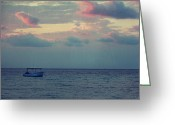 Sundown Greeting Cards - Come With Me My Love Greeting Card by Laurie Search